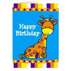 happy birthday giraffe baby greeting card zazzle