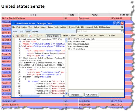 console log object debugging javascript in ie 11 phpsourcecode net
