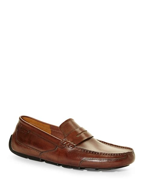 clarks loafers for lyst clarks ashmont way loafers in brown for