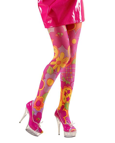 colorful flower power hippie tights as a hippie carnival
