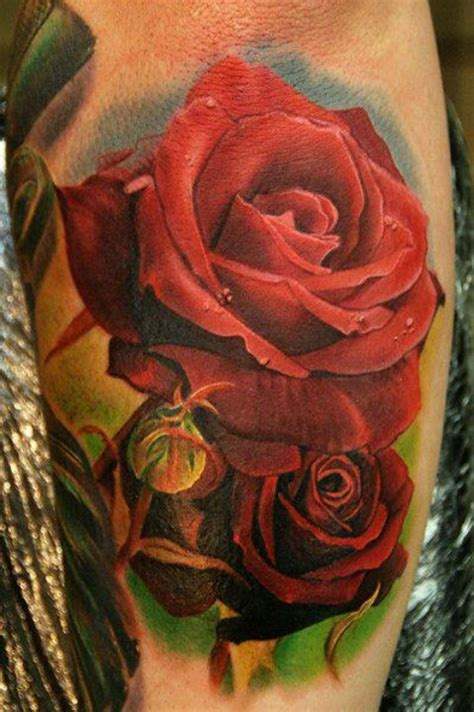 realistic red rose tattoo realistic tattoos ink to look