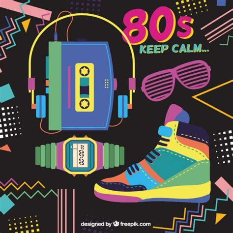 80 s love songs medley free download memphis background with eighties objects vector free