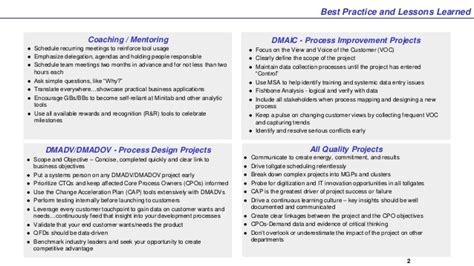lessons learned best practices template operational excellence best practices and lessons learned
