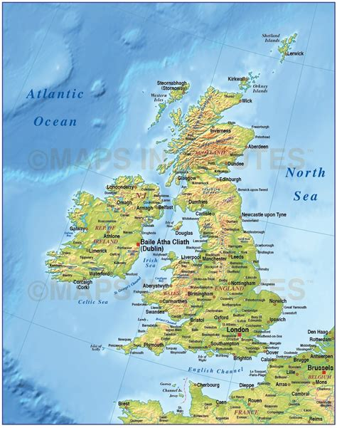 isles map digital vector isles uk map basic country with medium relief 4 000 000 scale