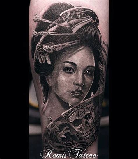 Tattoo 3d Geisha | 3d realistische geisha tattoo tattooimages biz