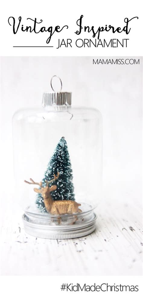 vintage inspired jar ornament
