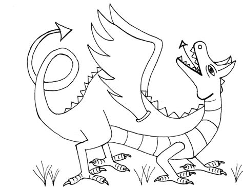 coloring page saint george dragon colored by puk