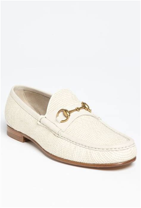mens white gucci loafers gucci roos straw bit loafer in white for white