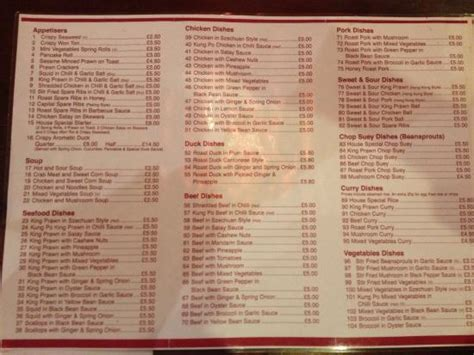 hong kong house menu takeaway menu 1 picture of hong kong house chinese restaurant hythe tripadvisor