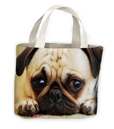 pug shopping bag pug tote shopping bag for pugs dogs ebay breeds picture