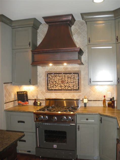Copper Vent For Kitchen Copper Range Hoods Traditional Range Hoods And Vents