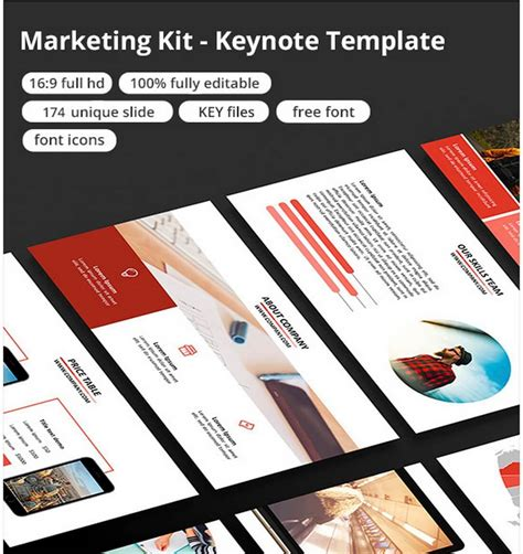 Keynote Presentation Templates For Every Occasion 30 Marketing Kit Template