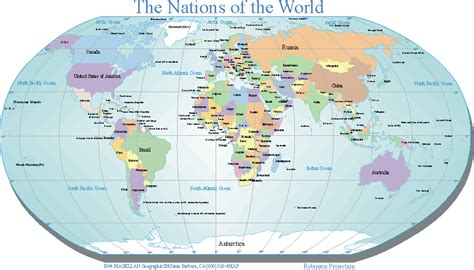 map  countries   world labeled  travel