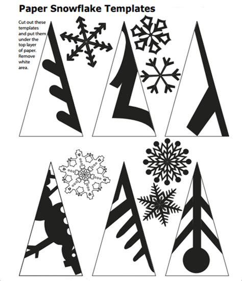 templates for snowflakes snowflake template 11 free pdf download