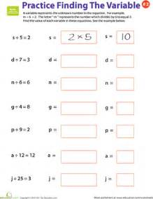 practice finding the variable 2 worksheet education com