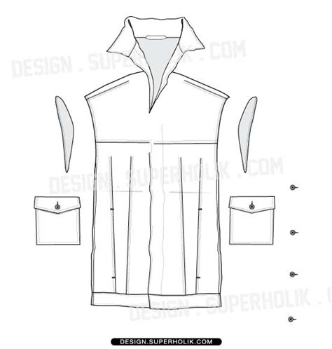 vest template vest hellovector