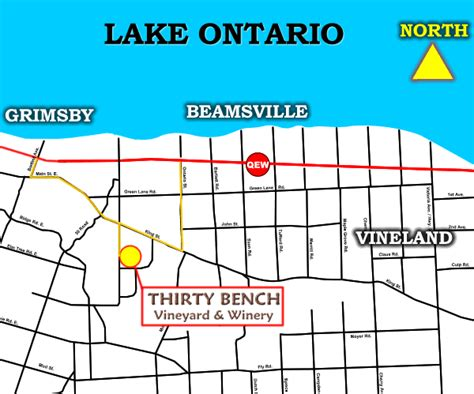 beamsville bench wineries directions to thirty bench winery niagara ontario canada