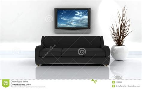 Sofa And Tv by 3d Render Of Sofa And Tv Royalty Free Stock Photos Image