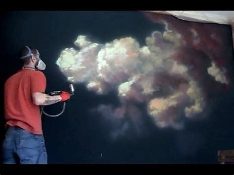 spray paint clouds how to paint a cloud airbrush mural 5hr in 11 min
