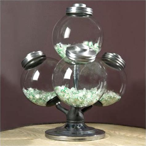 argentine candy jar swivel base   glass globes attached canvas interiors furniture store