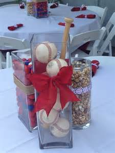 baseball themed decorating ideas baseball themed table centerpiece ideas