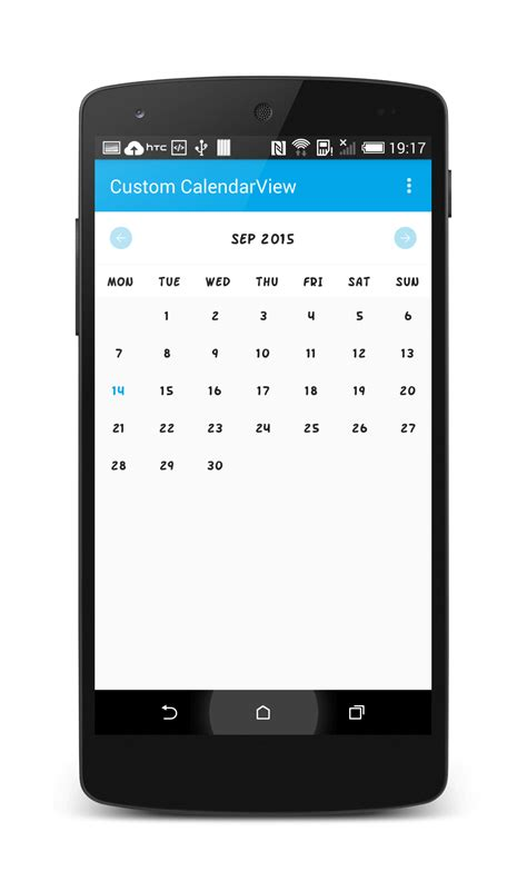 calendar for android custom calendar view library in android stacktips