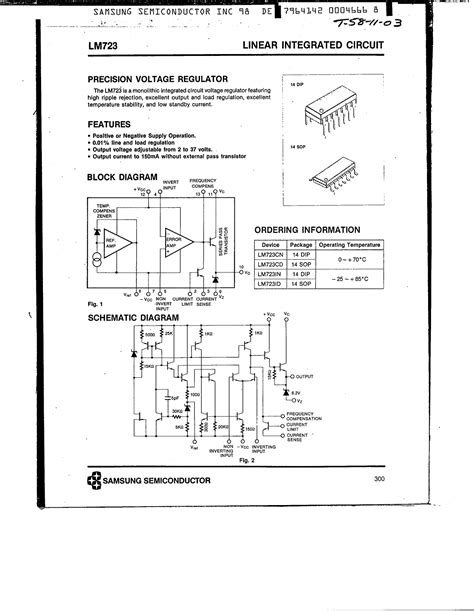 Lm723 National Semiconductor lm723 fiche technique datasheet pdf samsung electronics