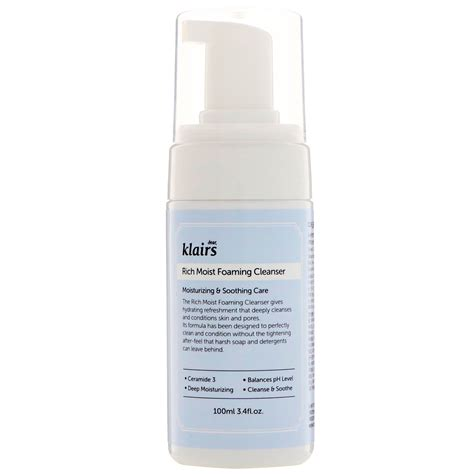 Klairs Rich Moist Foaming Cleanser 100ml dear klairs rich moist foaming cleanser 3 4 fl oz 100