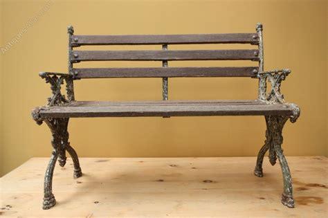 antique iron bench antiques atlas english antique cast iron garden bench