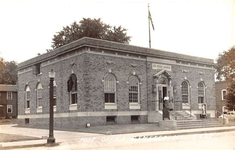 geneseo illinois post office real photo antique postcard