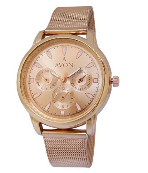 avon analog designer rose gold women girls