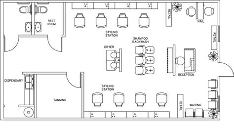 hair salon floor plan maker beauty salon floor plan design layout 1160 square foot