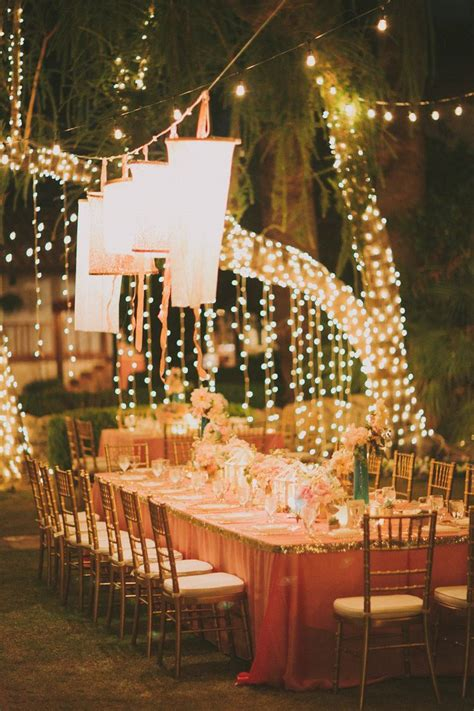 Outdoor Wedding Lighting Ideas La Quinta Wedding From Fondly Forever Photography Receptions Lighting And Wedding