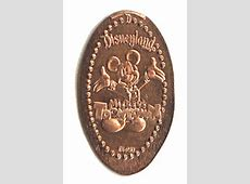 The Lands Disneyland Pressed Penny Collection. Elongated Penny Press