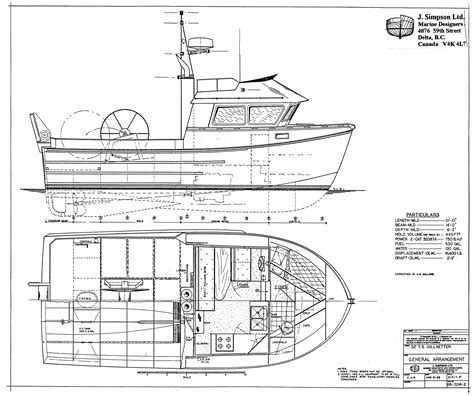 fishing boat layout j simpson ltd marine designers and consultants 32ft