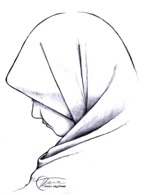 sketsa muslimah kartun dakwah islam kumpulan gambar