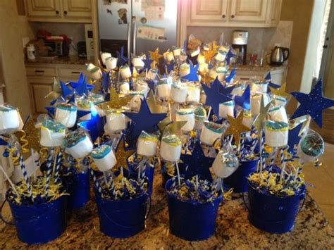 table centerpieces for blue gold ceremony scouts