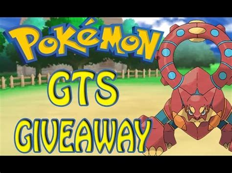 Pokemon Gts Giveaway - pokemon gts giveaway pokemon oras x y volcanion youtube