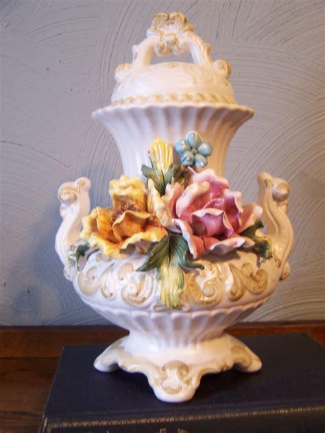 Capodimonte Urn Vase by Vintage Capodimonte Urn Vase Italy Italian Porcelain Crown