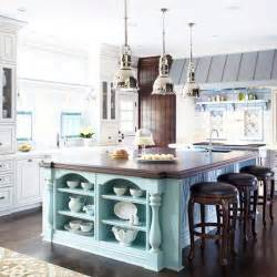 Blue Kitchen Islands by Bhg Centsational Style