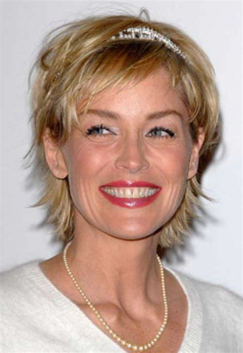 pics of sharon stones hair cut only print out front and back sharon stone short hairstyles and stones on pinterest