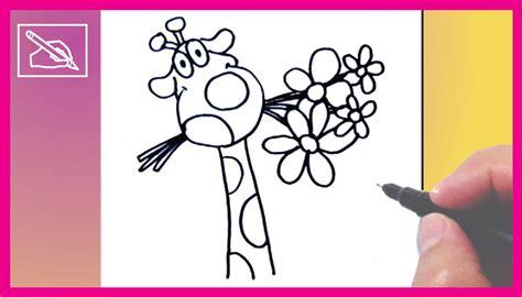 imagenes de amor de jirafas animadas c 243 mo dibujar una jirafa enamorada drawing a giraffe in