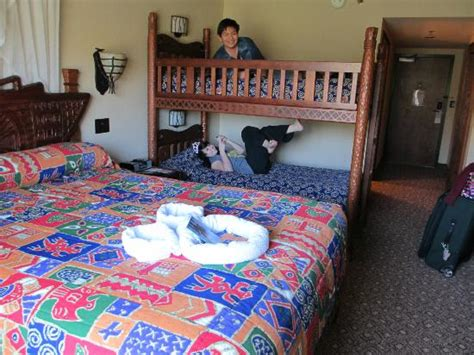 Animal Kingdom Lodge Bunk Beds Size Room With Bunk Beds And A Bed Also Sink In Bathroom Picture Of Disney S