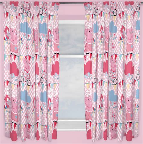 Curtains 80 Inch Drop Peppa Pig Tweet Curtains 66 Quot X 72 Quot Inch Drop Ready Made