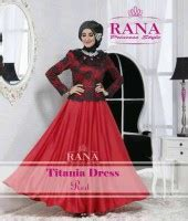 Dress Flow Putih baju muslim etnik gaun pesta muslim titan dress merah