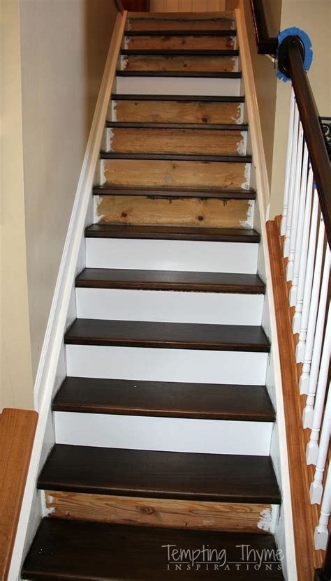 replacing basement stairs best 25 stair risers ideas on