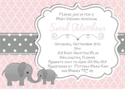 free template for name card elephant tips for choosing pink and grey elephant baby shower