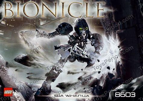Original Lego Bionicle 8603 Toa Nokama 7 Years lego 8603 toa whenua set parts inventory and
