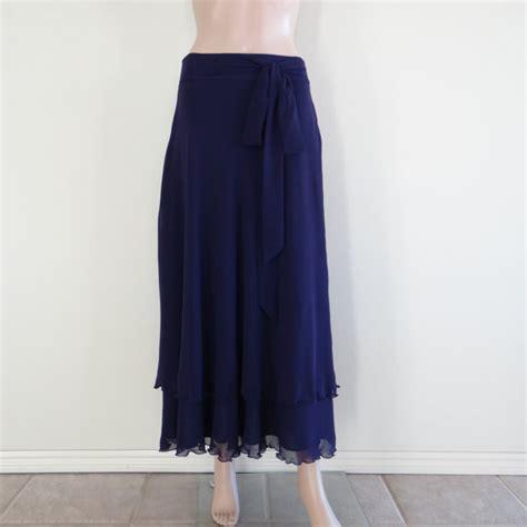 navy blue maxi skirt chiffon skirt by lynamobley2012 on etsy