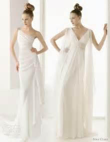 Drapes In Spanish Greek Goddess Wedding Dresses